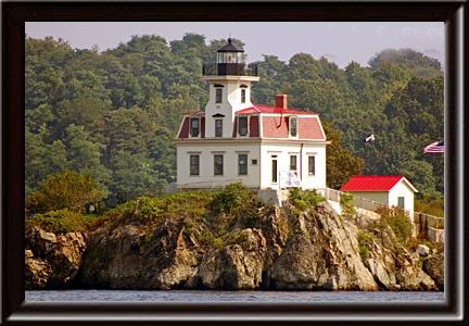 Pomham Rocks Lighthouse, East Providence, Rhode Island.  Est. 1871