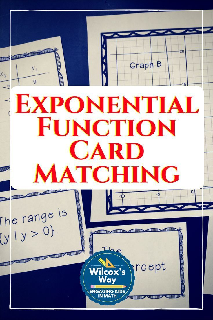 See More Cardsorting Activity To Help Students Connect Exponential Graphs  To A Matching Table, Domain
