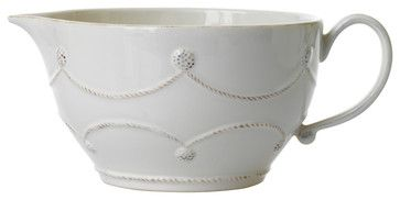 Berry and Thread Batter Bowl - Whitewash - transitional - Mixing Bowls - Bliss Home & Design