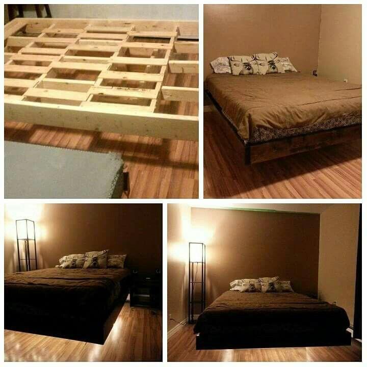 Floating bedframe