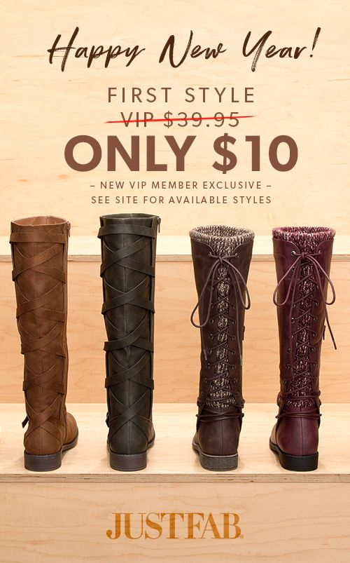 New Year, New Boots! - Get Your First Pair for Only $10! Take the 60 Second Style Quiz to get this exclusive offer!