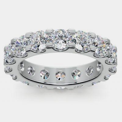 NEW 4 CT Round Brilliant Cut Diamond Eternity Wedding Band Ring in Platinum #DiamondRings https://www.eandcweddings.com/product/4-ct-round-brilliant-cut-diamond-eternity-wedding-band-ring-in-platinum/