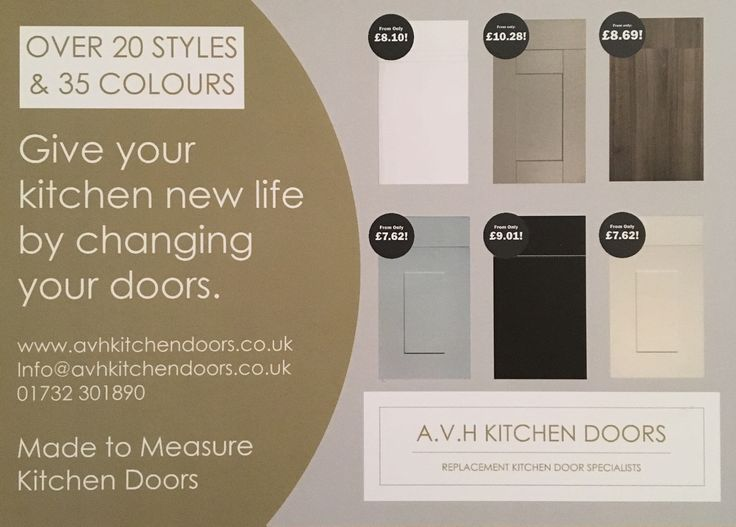 Made to measure replacement kitchen cabinet doors and drawers from www.avhkitchendoors.co.uk #replacementkitchendoors  #kitchenmakeover #madetomeasure #kitchen