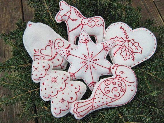 Scandinavian/ Nordic Christmas Bowl Fillers/ Ornaments