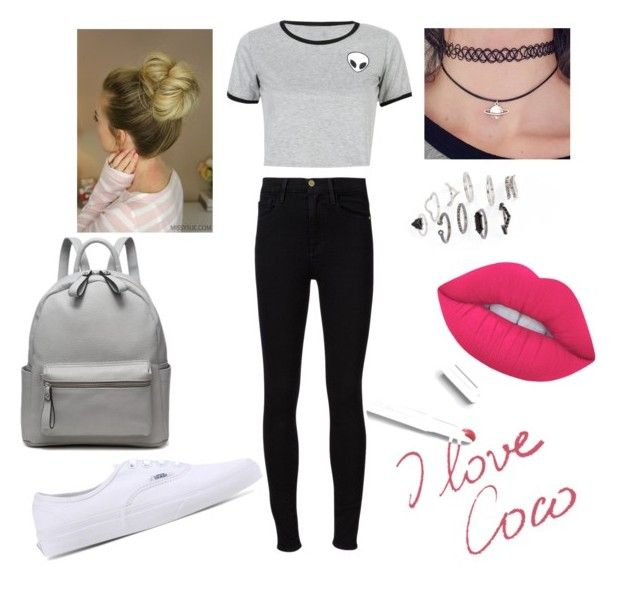 """""""I liiikeee"""" by yangui-sarra on Polyvore featuring mode, Frame Denim, WithChic, Vans, Topshop, Lime Crime et Chanel"""