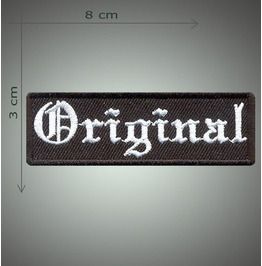 Original Embroidered Patch, 1,2 X 3,2 Inch