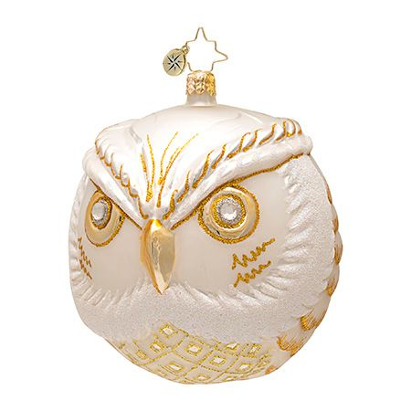 The Christopher Radko Wise One White Ornament is part of the 2013 Animal Collection of Radko Ornaments.