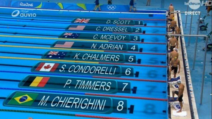 Pieter Timmers s'offre la médaille d'argent sur 100 m libre - Jeux Olympiques
