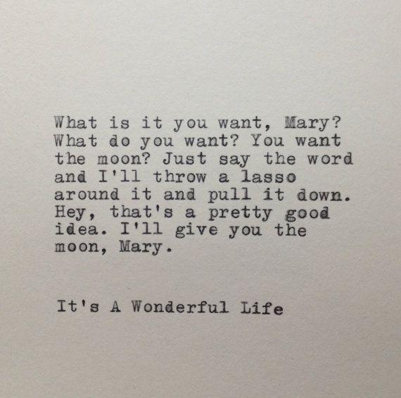 It's A Wonderful Life Quote Typed on Typewriter by WhiteCellarDoor