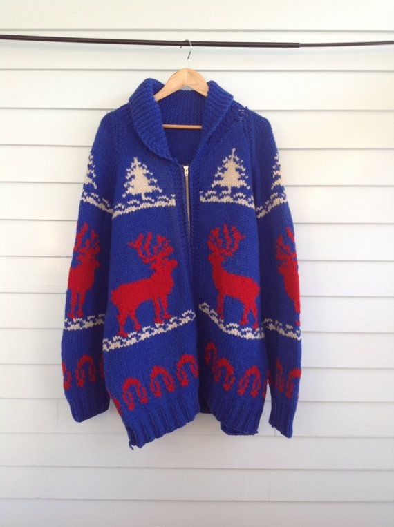 Vintage Mens Cowichan Sweater Vintage Mens by YourAuntiesPanties, $225.00
