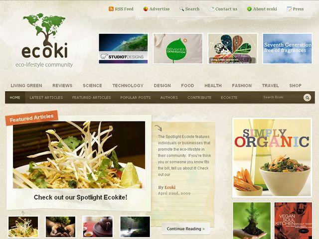 EcokiのWebデザイン http://ecoki.com/