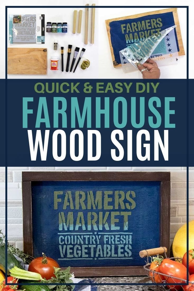 I Am So Gonna Make This Farmhouse Sign For My Kitchen I Am So Excited To Find These Stencil Tips For Making My Own Wo In 2020 Farmhouse Diy Wood Signs