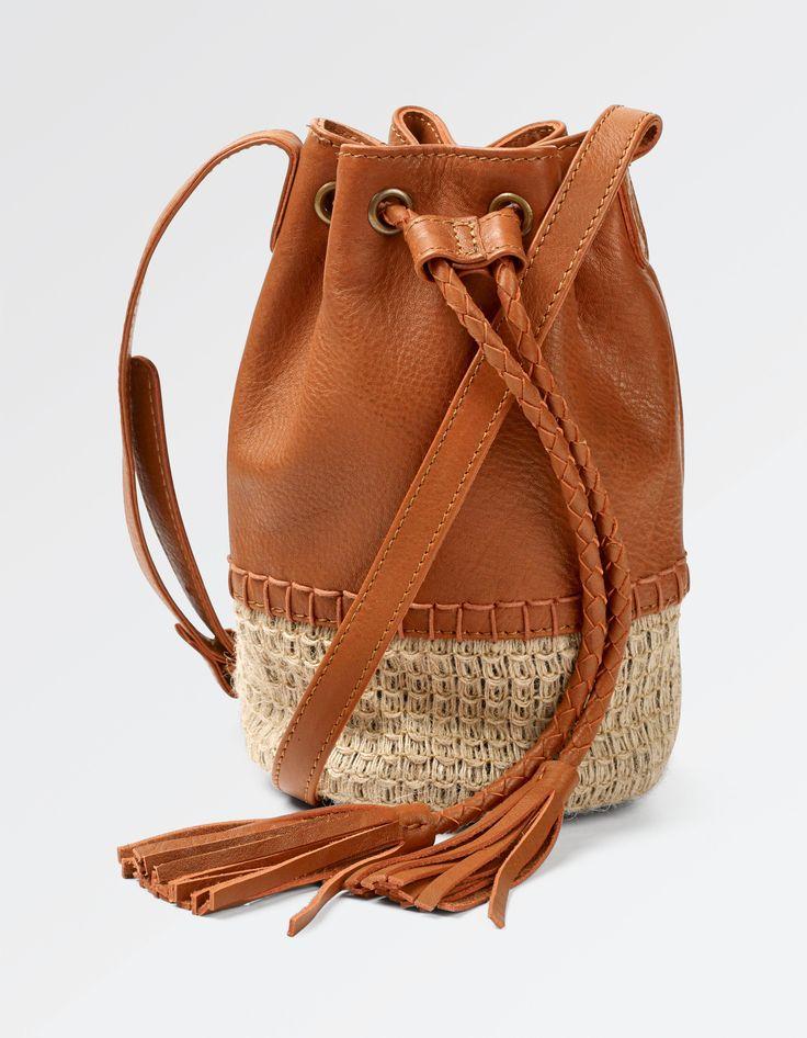Mini Straw Bucket Bag