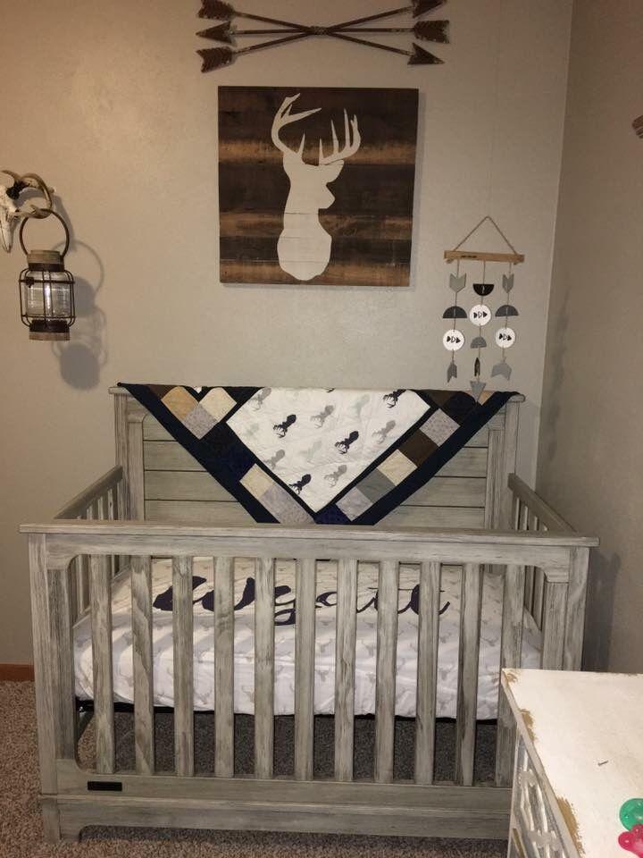 Baby Boy Nursery Deer Heads And Arrows Rustic Nursery 2019