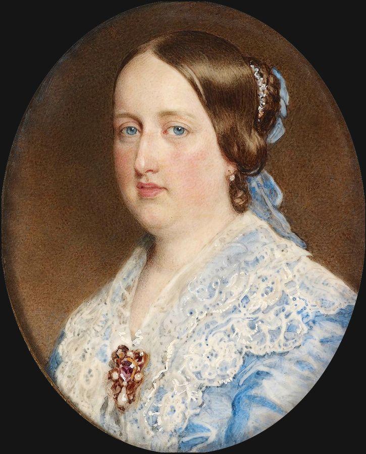 1852 rainha Dona Maria II de Portugal, possivelmente por Guglielmo Faija (coleção real) | Grandes senhoras | gogm