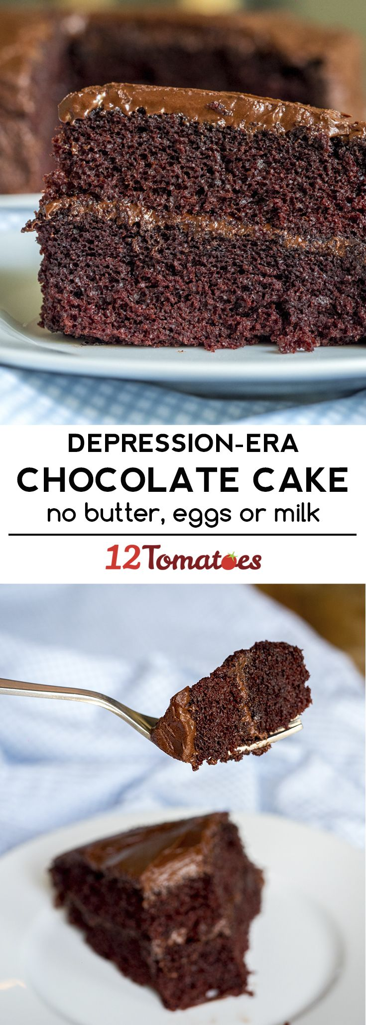 Depression Era Chocolate Cake