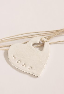 gift tag of clay
