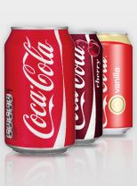 Coca Cola presents a comparison of the amount of caffeine in Coke products with other caffeinated beverages like coffee and tea. For example, a can of Coca-Cola has 32 mg of caffeine while a mug of filter  coffee has 140 mg.