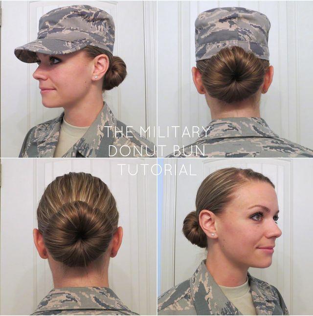 The Military Donut Bun Aunie Sauce In 2020 Haar Styling Haar Brotchen Kurzes Haarknoten