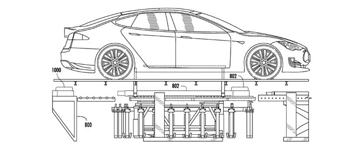 Tesla's battery swapping magic revealed in new patent application drawings | Electrek