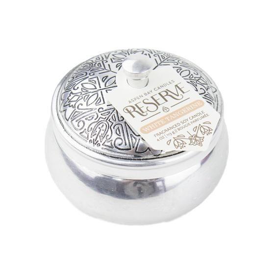 Aspen Bay Candles - Reserve Silver Tin White Tangerine