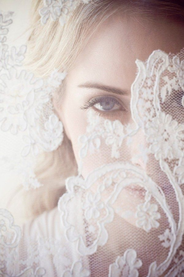 bridal veils.  I wore my wedding veil over my face when I got married.