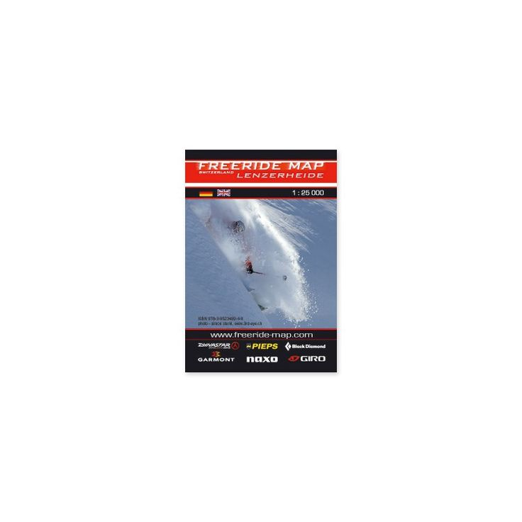 Freeride, skitouring and ice climbing : Freeride map - Lenzerheide