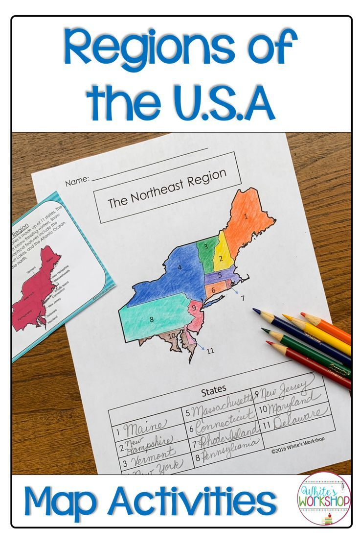 Regions of the United States Map Activities | Map activities ... on region 4 philippines map, region 2 philippines map, region 1 philippines map,
