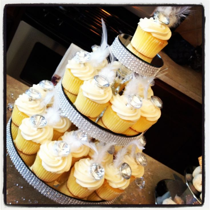 bling bridal shower | No detail is ever too small! An engagement ring was dropped into every ...