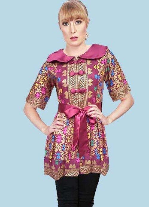Model Baju Batik Modern Yang Keren Dan Model Baju Atasan Batik