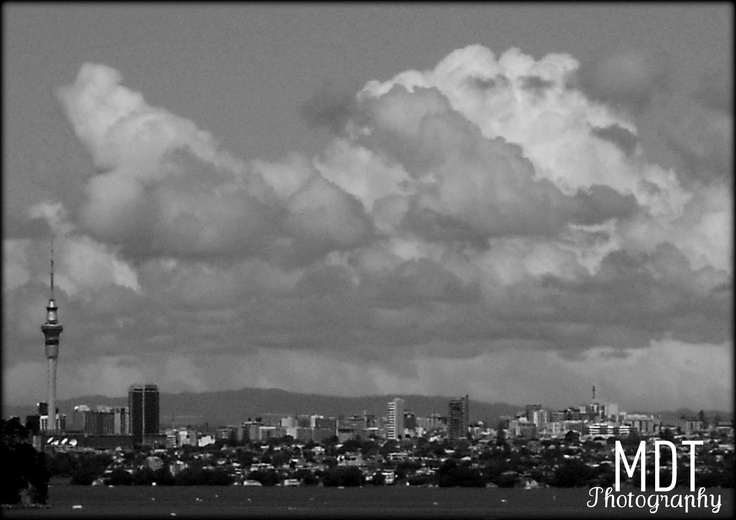 Auckland City in Black and White