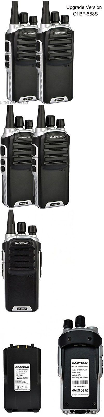 Walkie Talkies Two-Way Radios: Baofeng Bf-888S Plus Uhf Walkie Talkie Long Distance Range Communication Radios BUY IT NOW ONLY: $34.02