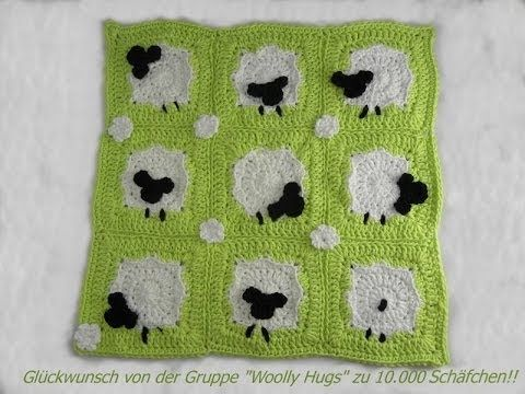 ▶ Häkeln - Schäfchen Grannys aus hatnut surf von Pro Lana - YouTube: a crochet video tutorial in German / ein Häkel-Video Tutorial in Deutsch