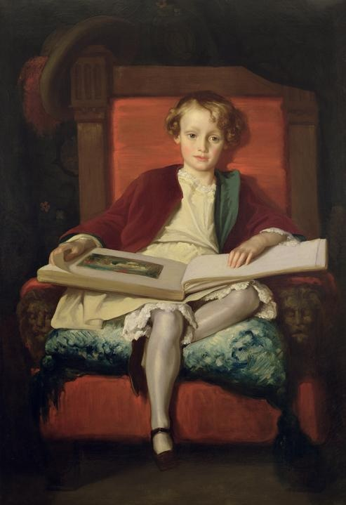 British Paintings: Frederic Lord Leighton - The Hon Frederic Wellesley, 1851
