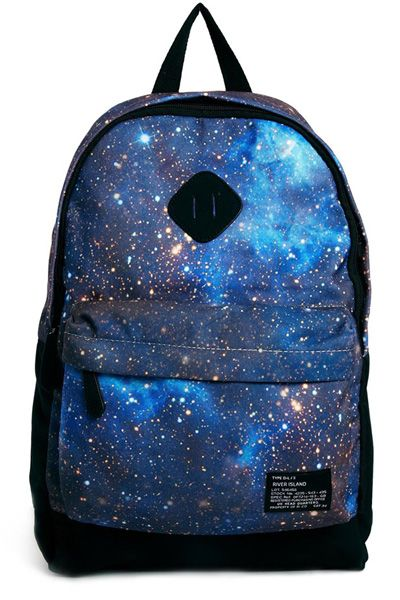 Galaxy Print River Island Backpack in Cosmic Print, $47.64, asos.com 21 Backpacks So Cute You'll Want To Carry Them On Weekends Too