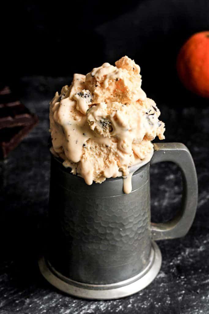 Bitter Chocolate and Orange Ricotta Ice Cream