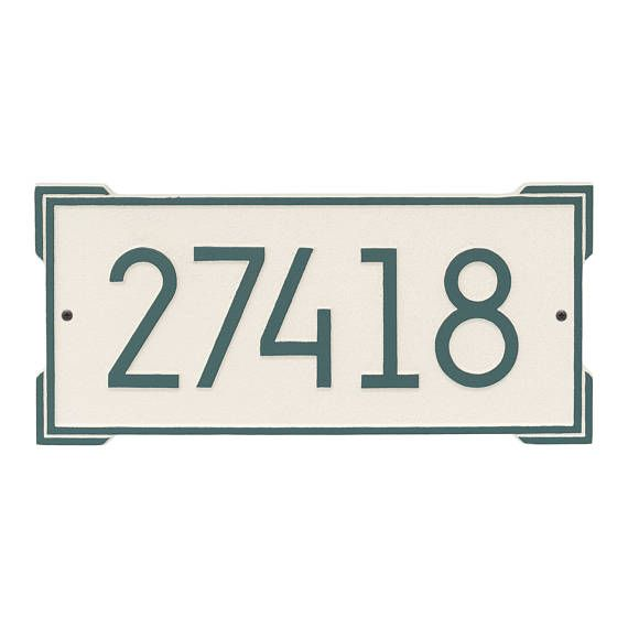 LEAVE THE NUMBERS FOR YOUR ADDRESS IN THE COMMENTS SECTION! - if I dont receive the information I will email you - I need to know what to put on the plaque :) Ramp up your curb appeal with the Roanoke Modern Personalized Wall address plaque! The combination of contemporary font