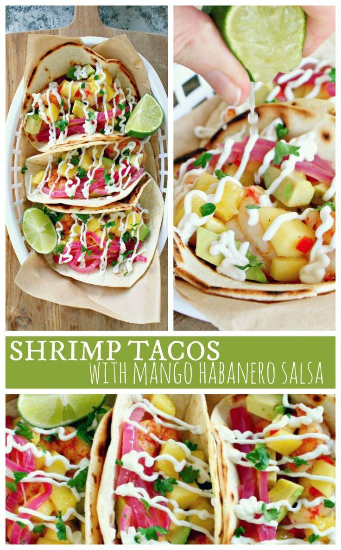 Shrimp Tacos with Mango Habanero Salsa