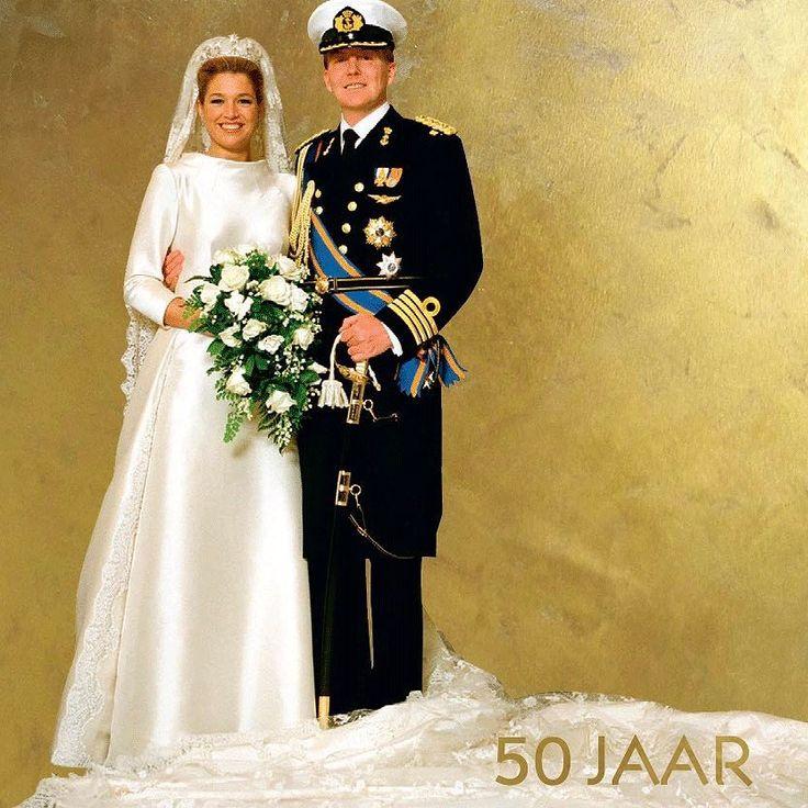 Op 2 februari 2002 gaven Prins Willem-Alexander en Máxima Zorreguieta elkaar het ja-woord in Amsterdam. Waar was jij op dit memorabele moment? #WA50 #paleisamsterdam #koninklijkhuis #amsterdam #koninklijkeverzamelingen