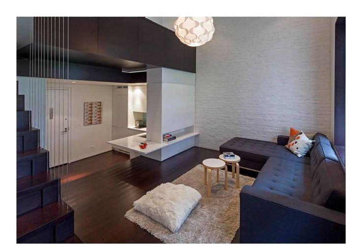 Манхэттен микро-Лофт: современный гостиной Шпехта архитекторов