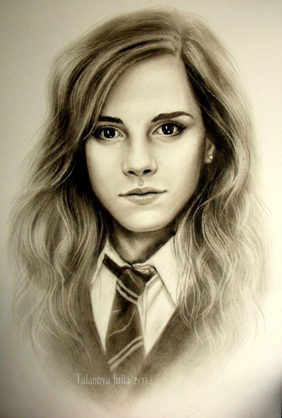 Hermoine #Portrait #Zeichnung #realistisch
