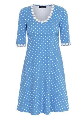 Køb Mania Copenhagen Yvonne kjole turkis hos denckerdeluxe
