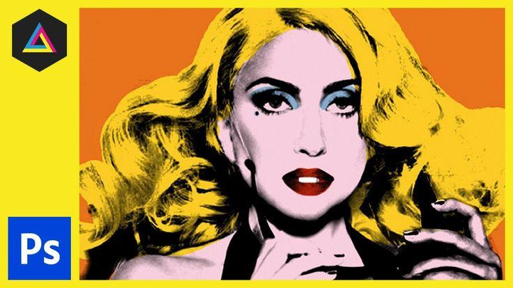 Create Andy Warhol Style Pop Art - Lady Ga Ga [Photoshop CS5]  Cianna this your homework. do each family member. k babe