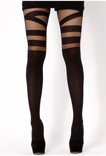 Leea V Strap Around Suspender Tights