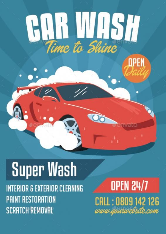 Car Wash Flyer Template Flyer Template Car Wash Business