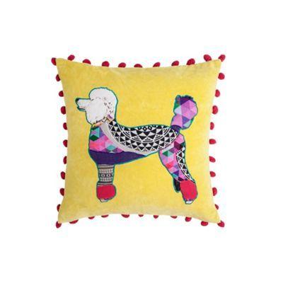 Abigail Ahern/EDITION Yellow poodle cushion- at Debenhams.com