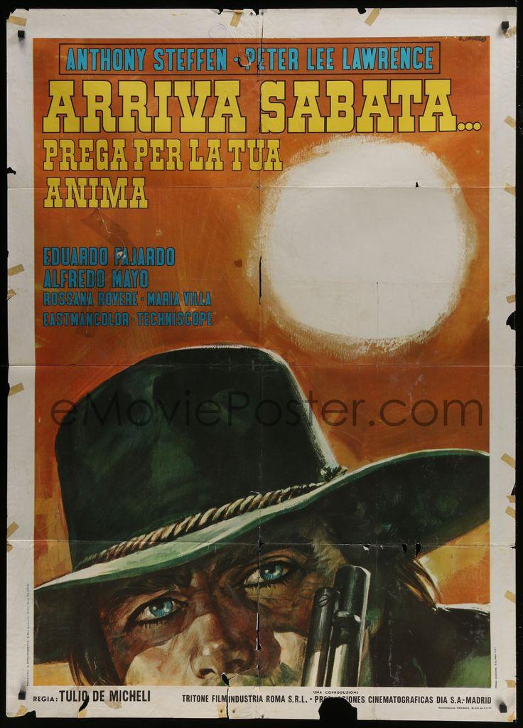 eMoviePoster.com Image For: 4j478 SABATA THE KILLER Italian 1p 1970 cool spaghetti western art of Steffen by Renato Casaro!