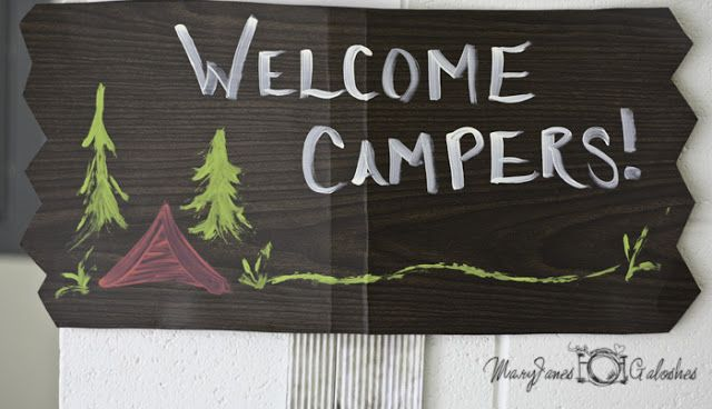Camping theme decorations