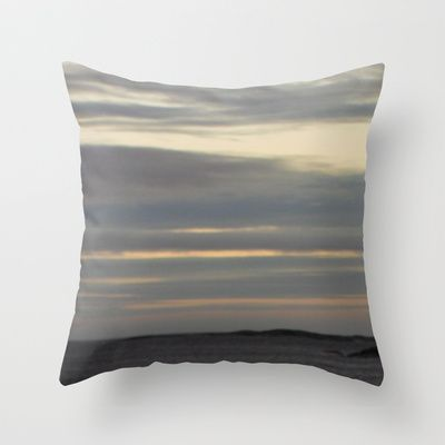 grey sea Throw Pillow by Platinepearl - $20.00