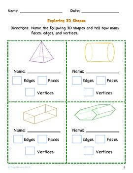 Worksheets Two Dimensional Shapes Worksheets collection of two and three dimensional shapes worksheets delibertad